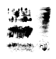 Hand-drawing texture stiff brush strokes vector image