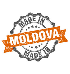 made in moldova round seal vector image