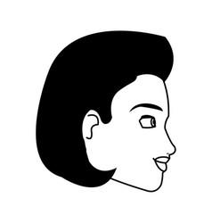 Portrait woman business professional person line vector
