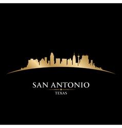 San Antonio Texas city skyline silhouette vector image