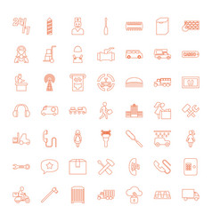 49 service icons vector image