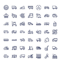 49 truck icons vector