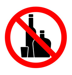 Alcohol strong drinks stop forbidden prohibition vector