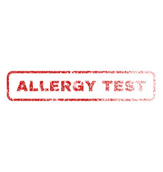 Allergy test rubber stamp vector