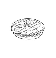 Bakery food doughnut donut glazed cake isolated vector