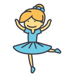 Ballerina balet dancer dancing girl concept vector