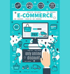Banners of internet e-commerce vector