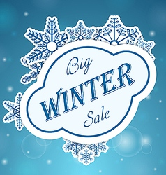 Big whinter sale on snowflake vector image