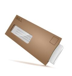 bill envelope vector image
