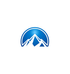 blue mountain abstract logo vector image