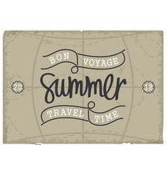 bon voyage summer travel time vector image