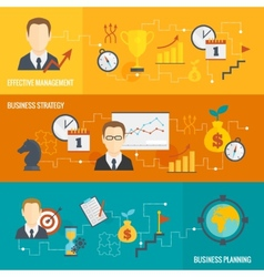 Business strategy planning banner set vector image