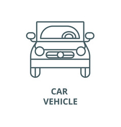 car vehicle front view line icon car vector image