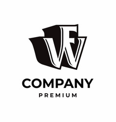 Creative modern initial letter wf icon logo vector