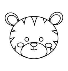 Cute little tigger animal character vector