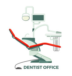 Dentist office with comfortable chair and modern vector