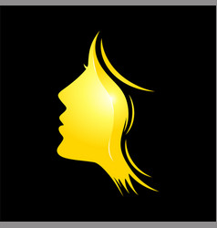 female beauty face logo vector image