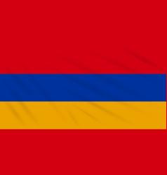 Flag armenia swaying in wind realistic vector
