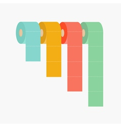 Four column toilet paper roll set chart diagram vector