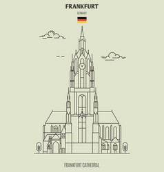 Frankfurt cathedral in frankfurt vector