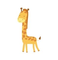 Giraffe Stylized Childish Drawing vector