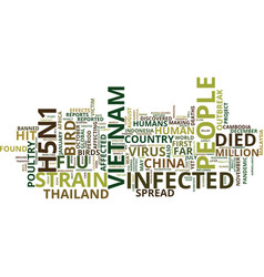 Global spread of bird flu text background word vector