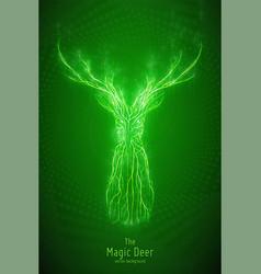 green geometric deer head vector image