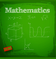 Green mathematics background vector