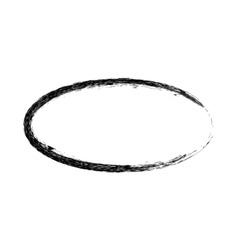 Grunge frame oval shape vector