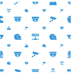 Guard icons pattern seamless white background vector