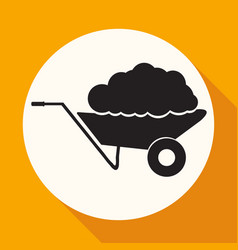 Handcart icon vector
