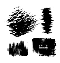 Handdrawing texture brush strokes of ink vector