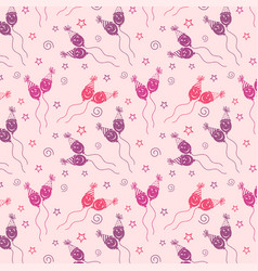 happy birthday pattern background with purple vector image
