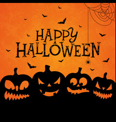 happy halloween banner with scary vector image