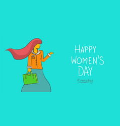 happy womens day business lady concept background vector image