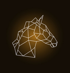 horse head side view geometric style vector image