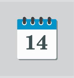 Icon calendar page day template calendar date 14 vector
