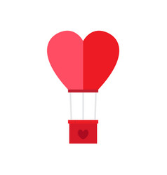 isolated heart shaped air balloon vector image