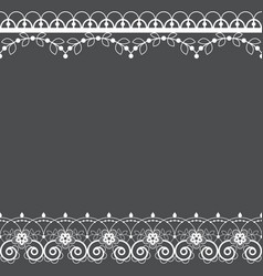 lace pattern greeting card or invitation vector image