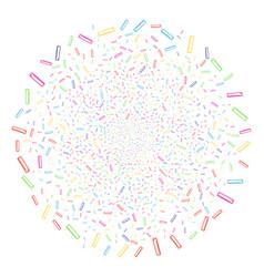 Length ruler decoration spheric cluster vector