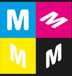 letter m sign design template element vector image
