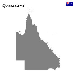 Map of queensland is a state of australia vector