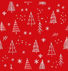 marry christmas and christmas tree pattern vector image