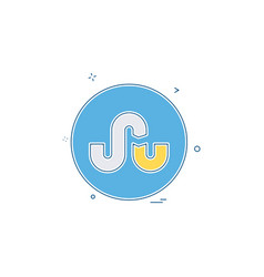 Media network social stumble upon icon vector