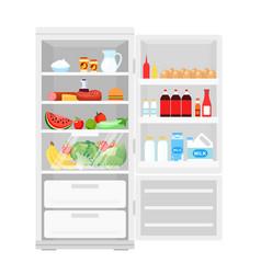 modern opened refrigerator vector image