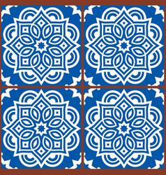 moroccan mandala tile seamless pattern vector image