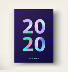 New year card 2020 greetings and invitations vector