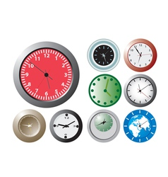 office wallclocks vector image