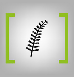 Olive twig sign black scribble icon in vector