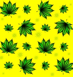 Pattern of green leaves vector